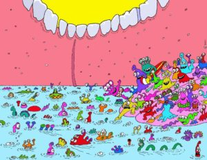 mouth-bacteria-gene-pool-cartoon_mouthville-dot-com